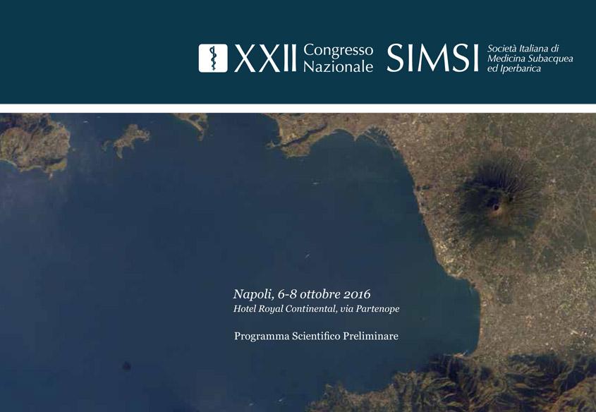 XXII Congresso Nazionale SIMSI | Società Italiana di Medicina Subacquea ed Iperbarica